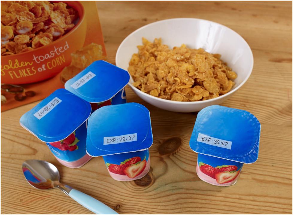 impresión para lácteos y yogurt
