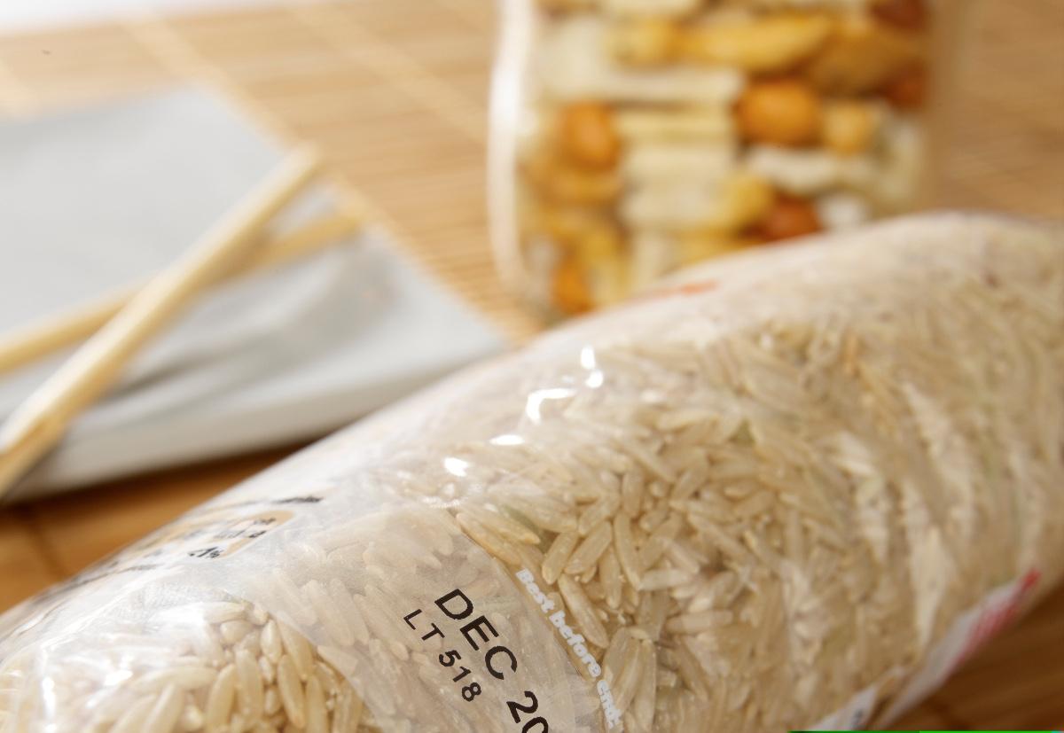 impresion de lote y caducidad en empaque cereales y granos